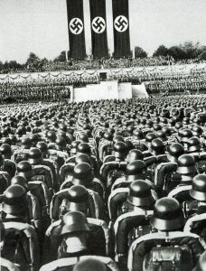 Parade of the SS at the feast of the Nazi party
