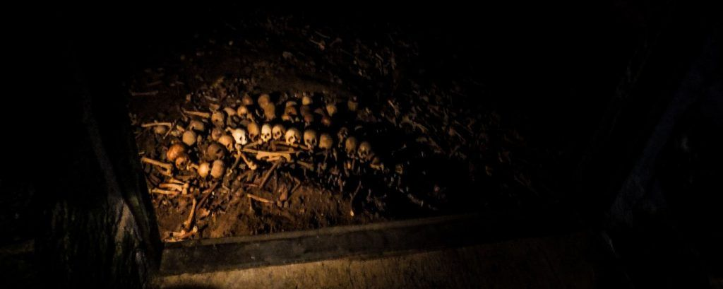Ossuary of Frankish knights in the Chapel of Sancti Spiritus or Silo of Charlemagne. Roncesvalles