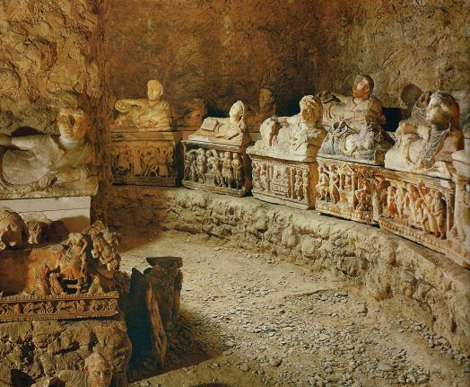 Etruscan tomb of the 2nd century BC. Florence