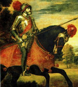 Emperor Charles V at the Battle of Mühlberg in 1547. Work of Titian